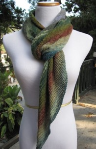 Bias Before and After Scarf in Taiyo Sock Yarn