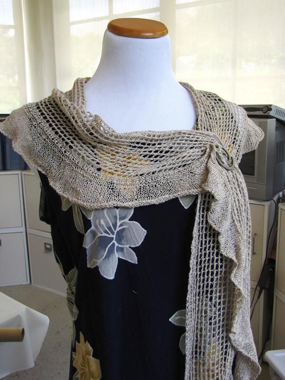 Allegria Scarf by Emma Fassio knit in Ito Kino Silk