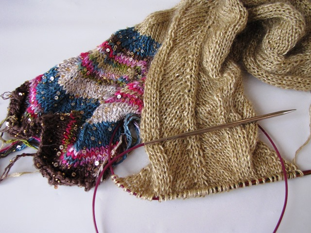Finishing up Another WIP - Art Yarns Chevron Scarf