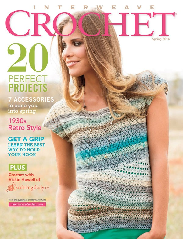 Convergence Top on the Cover of Interweave Crochet - Spring 2014