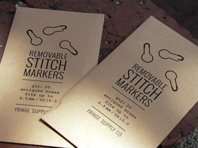 Removable Stitch Markers - I love the packaging!!