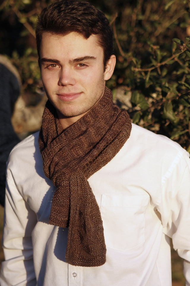 Diamond Eyes Scarf (modeled by my handsome son)