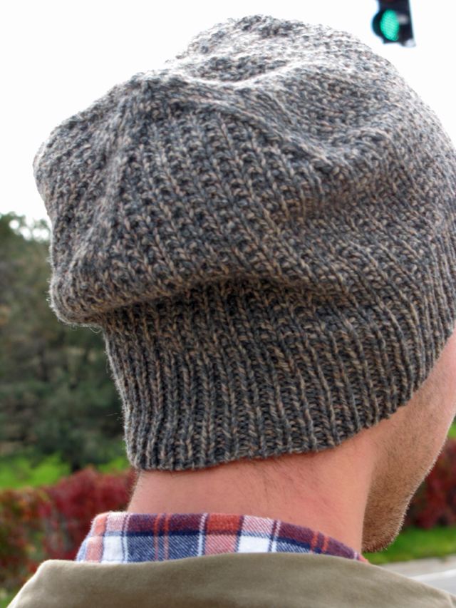Back of the Skyping Beanie knit in Lang Yarn Yak